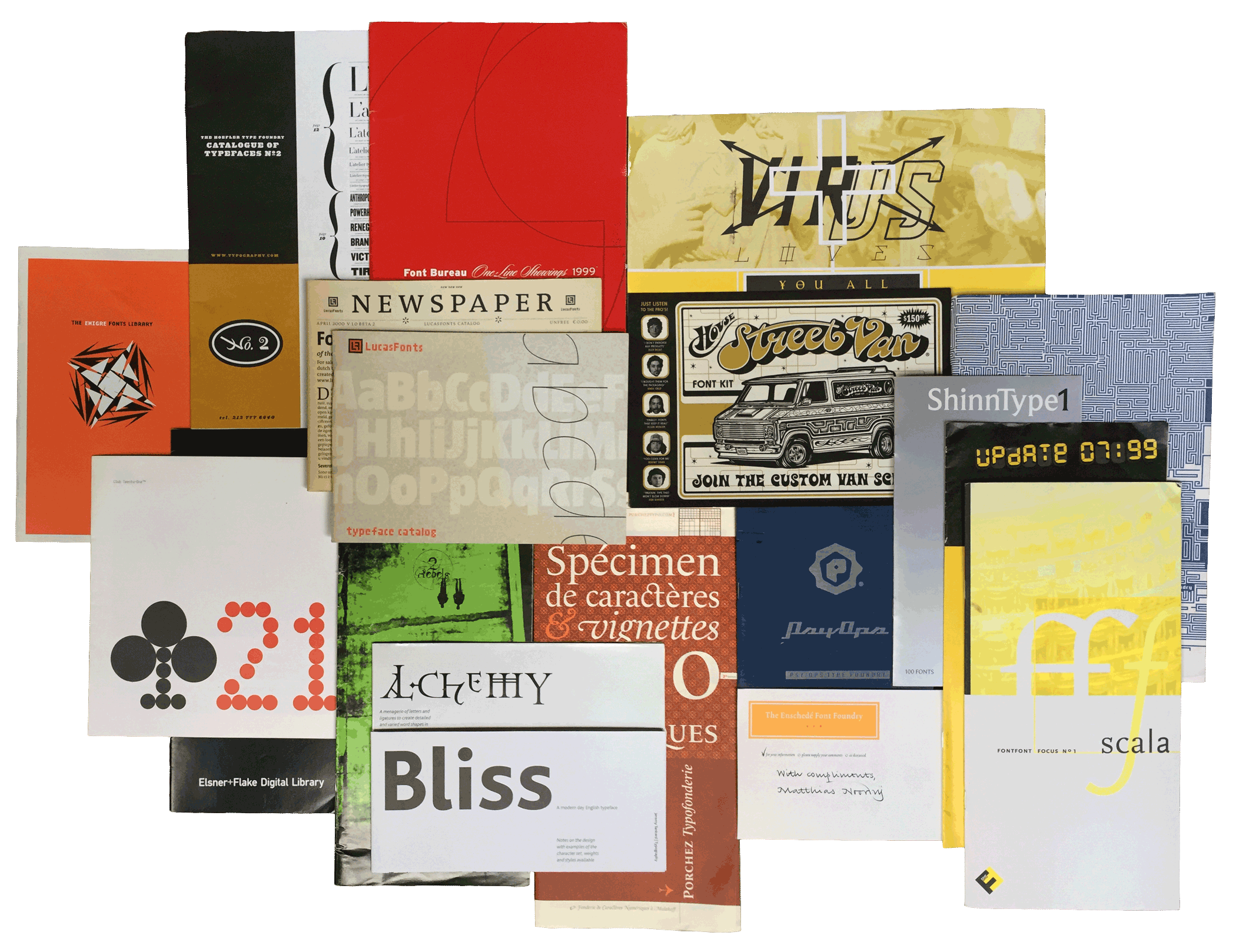 Printed Foundry Specimens, 1993–2000